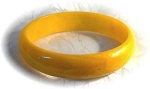 Click here to enlarge image and see more about item 0121200357:  Bakelite Yellow Gold Bangle Bracelet