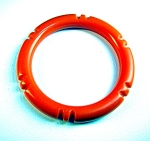 Bakelite Tangerine Carved Bangle bracelet