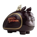 Click here to enlarge image and see more about item 0121200803: Money Bank Ceramic Harley Davidson Hog