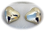 14K Gold French Clip Italian Heart Earrings