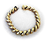Click here to enlarge image and see more about item 0122200418: Bracelet  14K Yellow  Gold San Marco 23.5 grams 7 1/2
