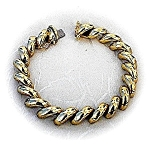 Click here to enlarge image and see more about item 0122200419: Bracelet 14K Yellow Gold Italian San Marco 8 Inch  24 g