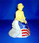 Click here to enlarge image and see more about item 0122200701: 1976 Avon Betsy Ross Figurine Topaz Cologne