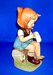 Click here to enlarge image and see more about item 0122200707: Erich Stauffer Hummel Type Little Girl Figurine