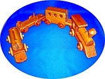 Click to view larger image of Handcrafted Wooden Pull Train (Image1)