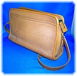 Click to view larger image of COACH Leather Light Tan Shoulder Bag (Image1)