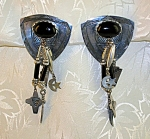 Click to view larger image of Sterling Silver Black Onyx Deborah West Clip Earrings (Image1)