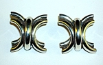Click to view larger image of Large Sterling Silver Clip Earrings Tasco Mexico (Image1)