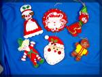 Lot of 6 Handmade felt christmas ornaments....