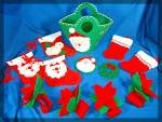 Click to view larger image of Lot of  12 handmade felt Christmas ornaments ..... (Image1)