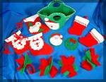 Click to view larger image of Lot of  12 handmade felt Christmas ornaments ..... (Image3)