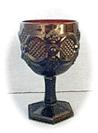 Click here to enlarge image and see more about item 0124200444: Avon 6 Inch Deep Red Cape Cod Wine Goblets