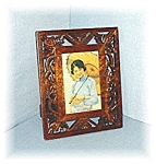 Click here to enlarge image and see more about item 0125200507: Polished Hardwood Photograph Frame