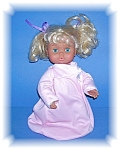 Click here to enlarge image and see more about item 0128200671: 11 1/2 Inch Blonde Blue Eyed Doll