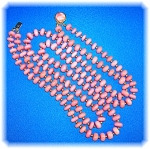 Click to view larger image of Dark Pink Rose Quartz Double Necklace (Image1)