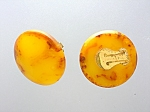 Bakelite Butterscotch Amber Clip Earrings