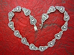 Sterling Silver Mexico MWS Signed Necklace 18 Inch