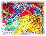 Vividly Colored Cities Of Europe Silk Scarf