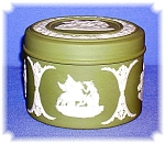 Click here to enlarge image and see more about item 0130200623: Discontinued Green Wedgewood Lidded Box