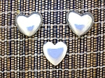 Taxco Mexico Sterling Silver Heart Clip Earrings Button