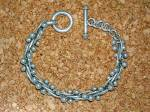 Click to view larger image of Sterling Silver Multi Ball Bracelet with Toggle Clasp (Image2)