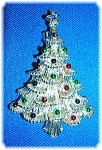 Click to view larger image of Vintage Gerrys Silver Christmas Tree Brooch Pin (Image1)