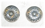 Silver American Indian Clip Earrings