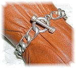 Click to view larger image of Sterling Silver Toggle Clasp Link Bracelet (Image1)