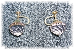 Cut Crystal Goldtone Screwback Earrings
