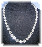 Click to view larger image of Graduated Cut Crystal 23 Inch Necklace (Image1)