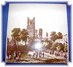 Hand Painted Ely pottery Tile English