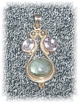 Click to view larger image of Sterling Silver Amethyst Blue Moonstone Pend (Image1)