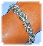 Click here to enlarge image and see more about item 0203200699: Sterling Silver handmade Cuff Bracelet
