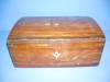 Click to view larger image of Wood Inlay Box, lined in Red Velvet with mirror (Image4)