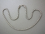 Necklace Sterling Silver Heavy Chain  S Clasp