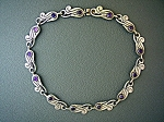Click to view larger image of BETO Mexico Sterling Silver Amethyst Necklace  Bracelet (Image1)