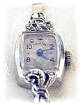Click here to enlarge image and see more about item 0205200436: 14K White Gold & Diamond Ladies Hamilton Wris