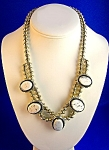 Native American Sterling Silvrer White Buffalo Necklace