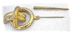 Goldtone Large Vintage 4 inch Hat Pin