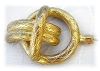 Click to view larger image of Goldtone Large Vintage 4 inch Hat Pin (Image3)