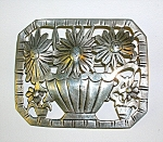 Click to view larger image of Sterling Silver SUNFLOWER Brooch Pin (Image1)