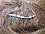 Click to view larger image of Amber Crystal Hair Comb (Image3)
