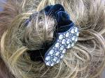 Click to view larger image of Crystal  Heart and Black Velvet Scrunchie (Image3)