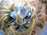 Click to view larger image of Crystal Flowers and Black hair Accessory (Image2)
