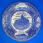 Click here to enlarge image and see more about item 0211500803: Collector Plate Los Angles California Flow Blue England