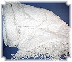 Click here to enlarge image and see more about item 02122006156: White Chenille Bed Spread Single Size 98 by 102 in.