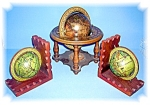Click here to enlarge image and see more about item 02122006158: Tabletop Globe and Bookends