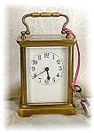 Fabulous Old French Brass Carriage Clock