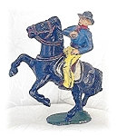 Click here to enlarge image and see more about item 0215200436: Diecast TIMPO TOYS ENGLAND Cowboy & Horse
