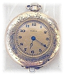 Click here to enlarge image and see more about item 0215200458: Vintage Elgin America GF Pocket Watch